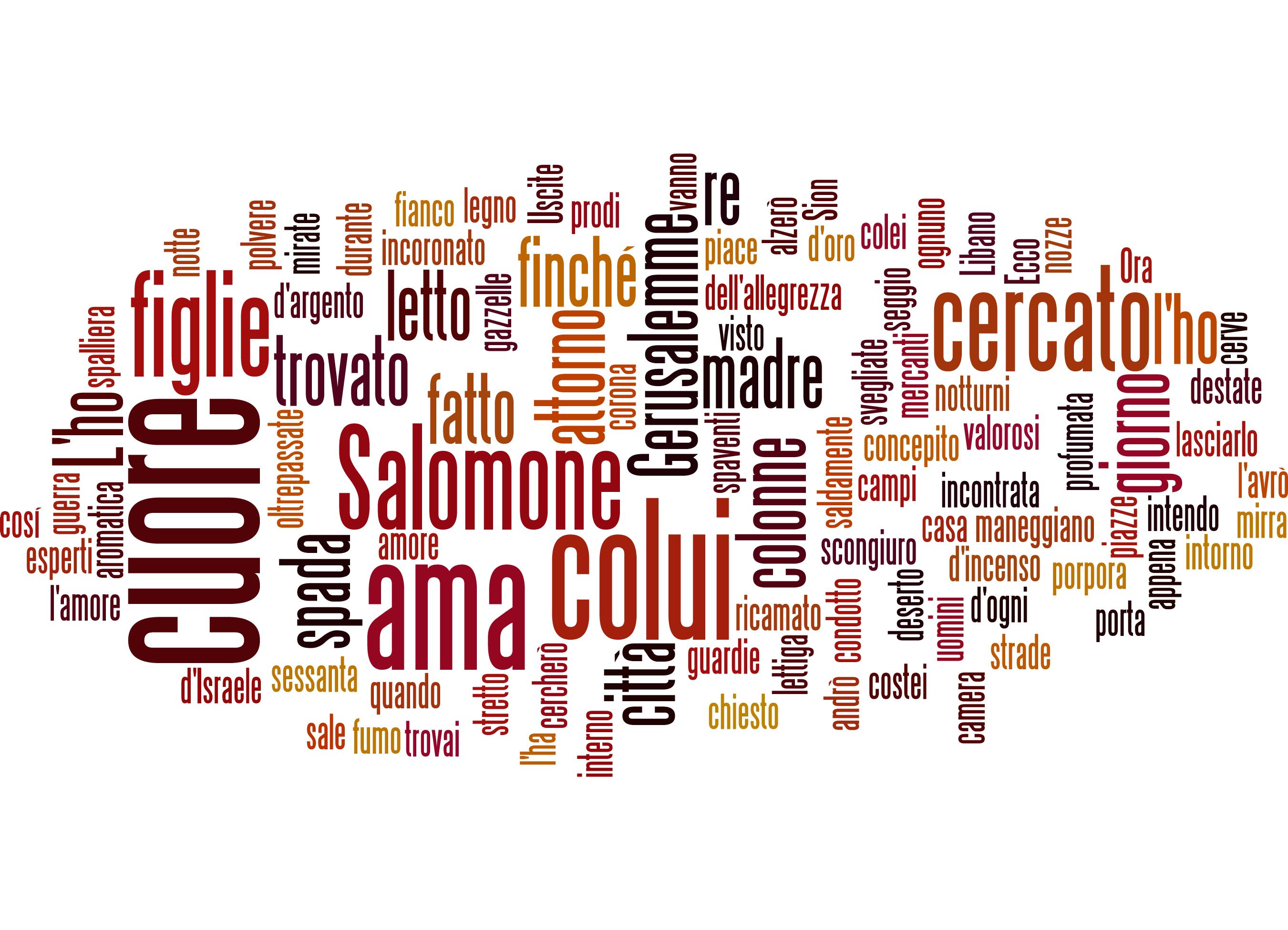 Cantico dei cantici 3 di Salomone